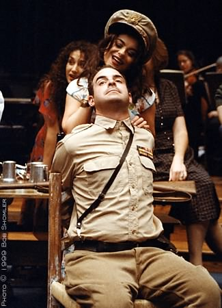 Nicolas Aliaga as Zuniga with Marla Kavanaugh as Frasquita in Carmen.