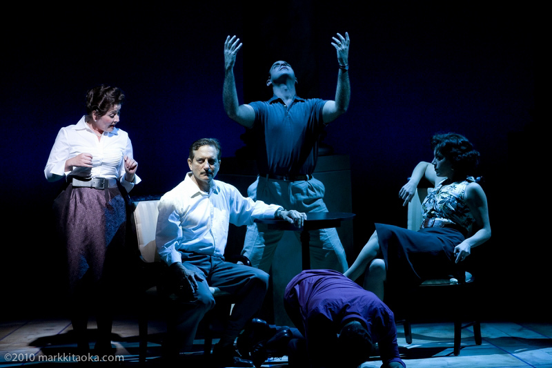Caroline Altman, Martin Vidnovic, Constantine Germanacos, Nicolas Aliaga, and Ariela Morganstern in Theatreworks' Light in the Piazza