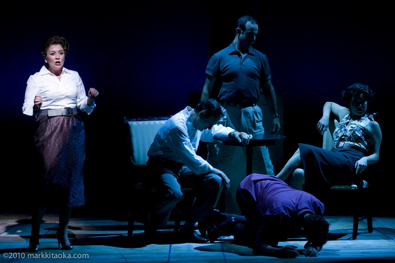 Caroline Altman, Martin Vidnovic, Constantine Germanacos, Ariela Morganstern, and Nicolas Aliaga in Theatreworks' Light in the Piazza