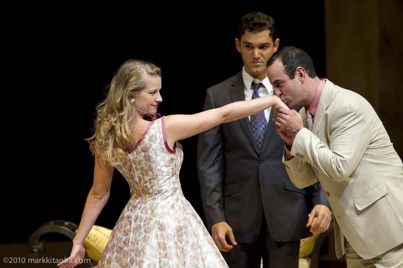 Whitney Bashor, Constantine Germanacos, and Nicolas Aliaga in Theatreworks' Light in the Piazza